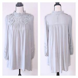 NWT Hayden LA Gray Floral Lace Tunic Dress